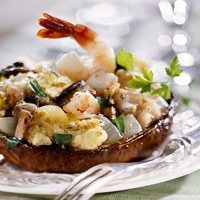 Shrimp Stuffed Portobello Mushrooms recipe