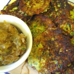 Zucchini Fritters With Chilli Jam