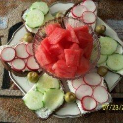 Cool Cucumber Or Radish Rye Tea Sandwiches