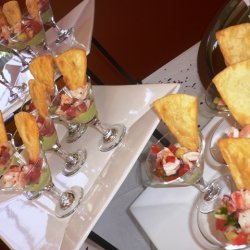 Shrimp Ceviche With Spicy Avocado Aioli