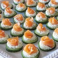 Cream Cheesey Cucumber Smoked Salmon Rosettes Appe...