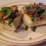 Mushrooms Over Bread Appetizer