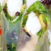 Lobster And Avocado Summer Roll With Mango Coulis recipe