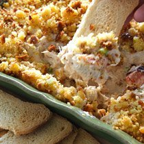 Horseradishy Hot Cornbread Crab Dip