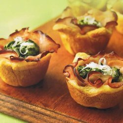Ham Florentine Mini-cups recipe