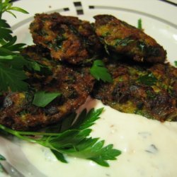 Zucchini Fritters With Parsley
