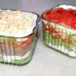 Party Size Perfect Layered Dips recipe