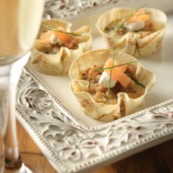 Salmon  Chive Tarts recipe