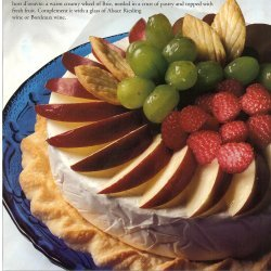 Warm Fruited Brie In Crust Pastry