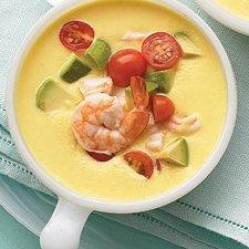 No Cook Cold Southestern Corn N Shrimp Soup