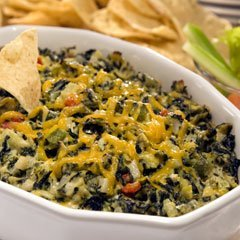 Hot Mexican Queso Spinach Dip