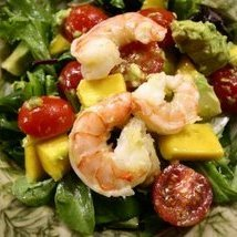 Seafood Salad With Tomato Avocado And Mango