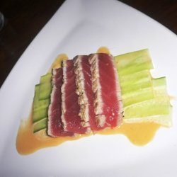 Seared Tuna Tataki With Shaved Cucumber