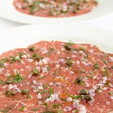 Beef Carpaccio With Capers Parsley And Truffle Oil recipe