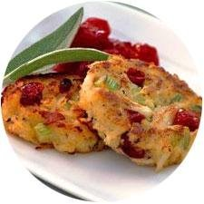 Sage And Cranberry Crab Cakes recipe