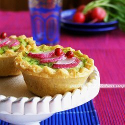 Radish Leaves And Avocado Quiche
