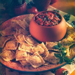 Toasted Ravioli With Fresh Tomato-basil Salsa recipe