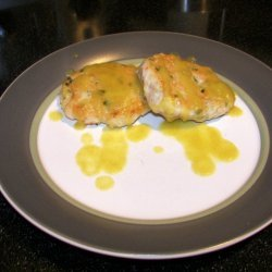 Crab  Shrimp Cakes With Honeydew And Green Curry