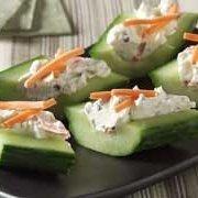 Cream Cheese N Herb Cucumber Bites