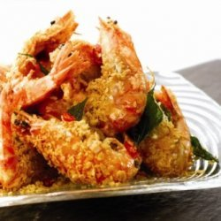 Golden Fried Jumbo Prawns recipe