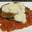 Eggplant Creole Appetizer With Crab Sauce