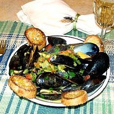 Mussels In Pernod Sauce