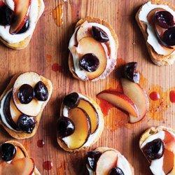 Cherry and Plum Bruschetta recipe