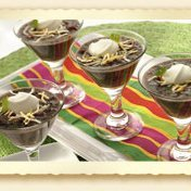 Black Bean Soup Shooters With Mexican Cheese