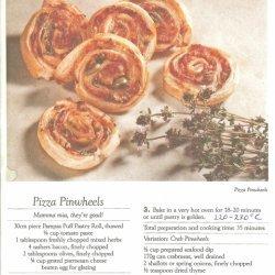 Pizza Pin Wheel - The Photo Is Similar recipe