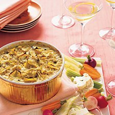 Baked Artichoke Dip With Winter Crudites