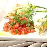 Scallop And Prawn Stuffed Zucchini Flowers recipe