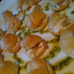 Goat Cheese And Sun Dried Tomato Profiteroles With...