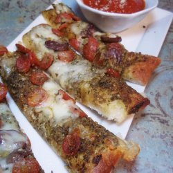 Pesto Pepperoni Pizza Planks