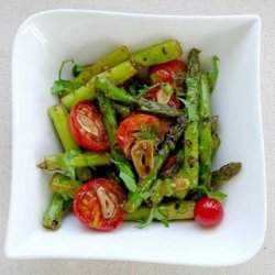 Grilled Asparagus And Cherry Tomato Salad