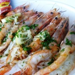 Portuguese Char-grilled Shrimp With Lemon Butter recipe