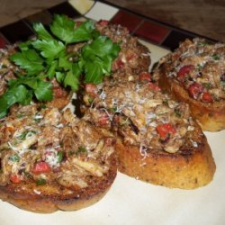 Browned Butter Crab Bruschetta