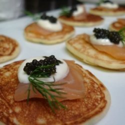 Blinis With Smoked Salmon & Dill Crème Fraich... recipe