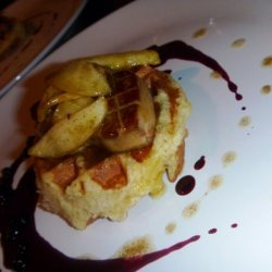 Brioche Waffle, Seared Foie Gras, Vanilla Apples, ... recipe