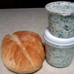 Party Size No Cook Spinach Dip recipe