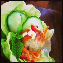 Thai Meatball Lettuce Cups With Spicy Sweet Peanut...