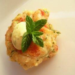 Greek Tomato Fritters With Mango Tzatziki