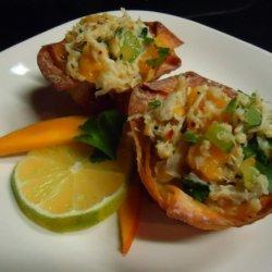 Crab Salad In Won Ton Cups