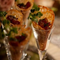 Spicy Tuna Tartare In Sesame Miso Cone recipe