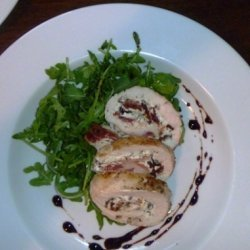 Herbed Goat Cheese Chicken Roulade recipe