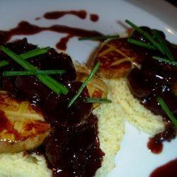 Seared Foie Gras On Brioche Toast With Cherry Sauc... recipe