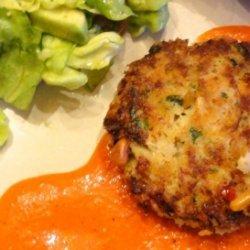 Crab Cakes With Piquillo Pepper Aioli recipe
