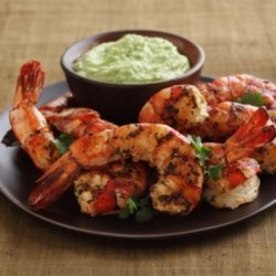 Grilled Cilantro-lime Shrimp With Spicy Hass Avoca...