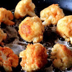 Parmesean Fried Cauliflower recipe