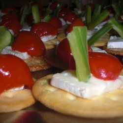 Happy Holiday Peppers On Brie