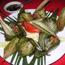 Chicken Wrapped In Pandanus Leaf Kai Ho Bai Toei
